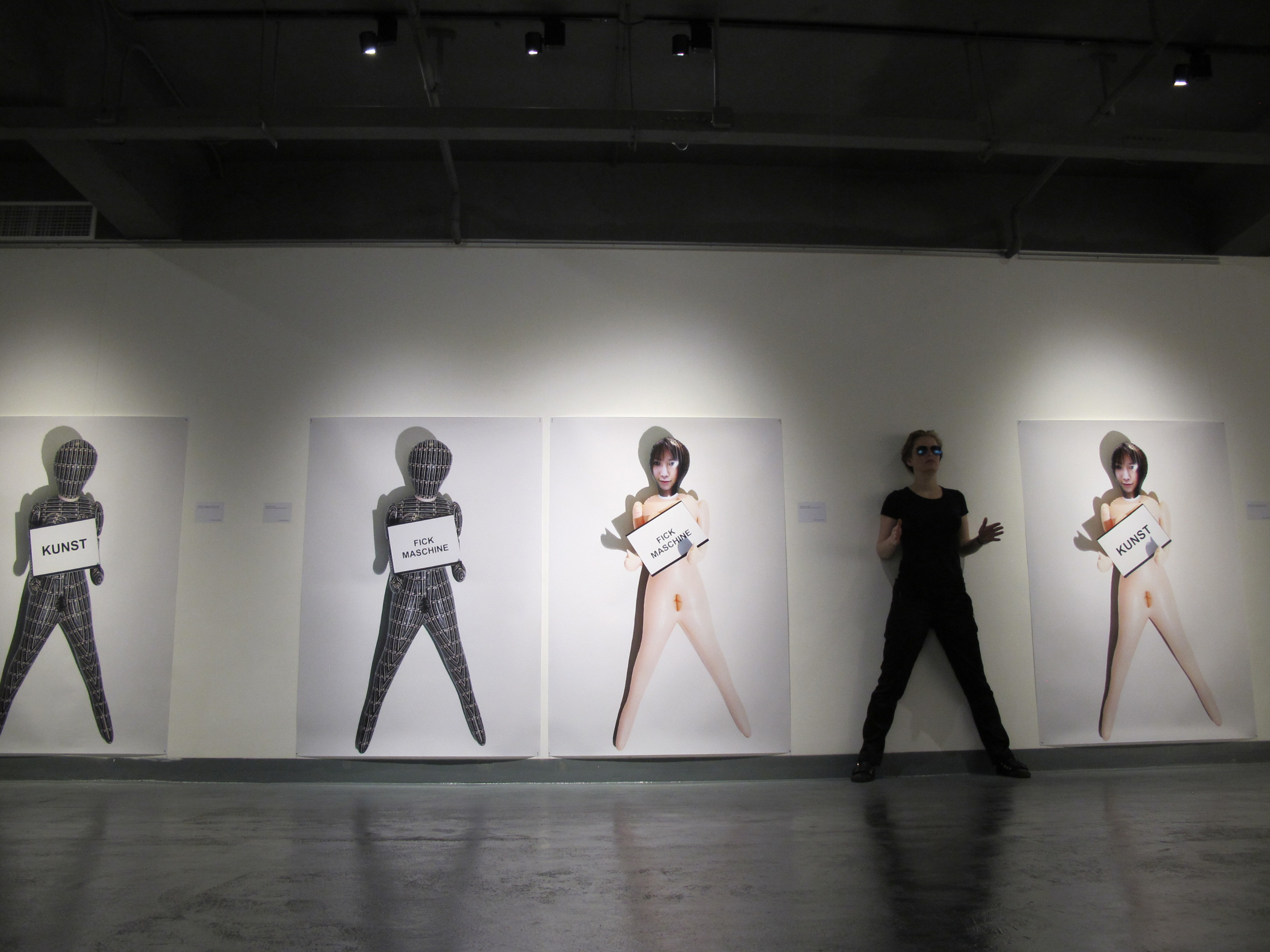 Installation view body noises, from the self-doll series, Tongqi art center Shanghai, China, 2012.