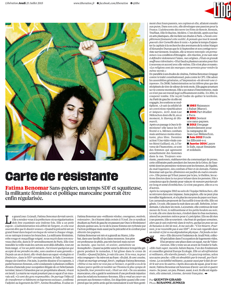 Publication for Libération