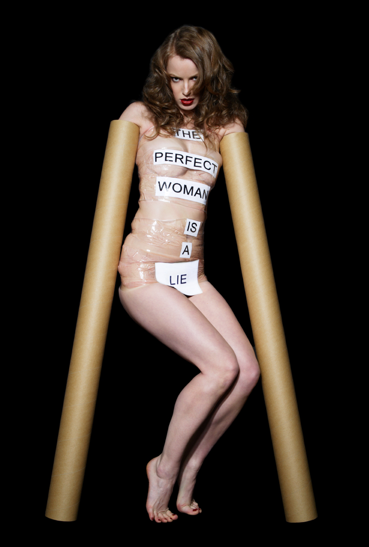 the perfect woman is a lie    self-portrait, 2006, lambda print, 40 cm x 60 cm, 80 cm x 120 cm.