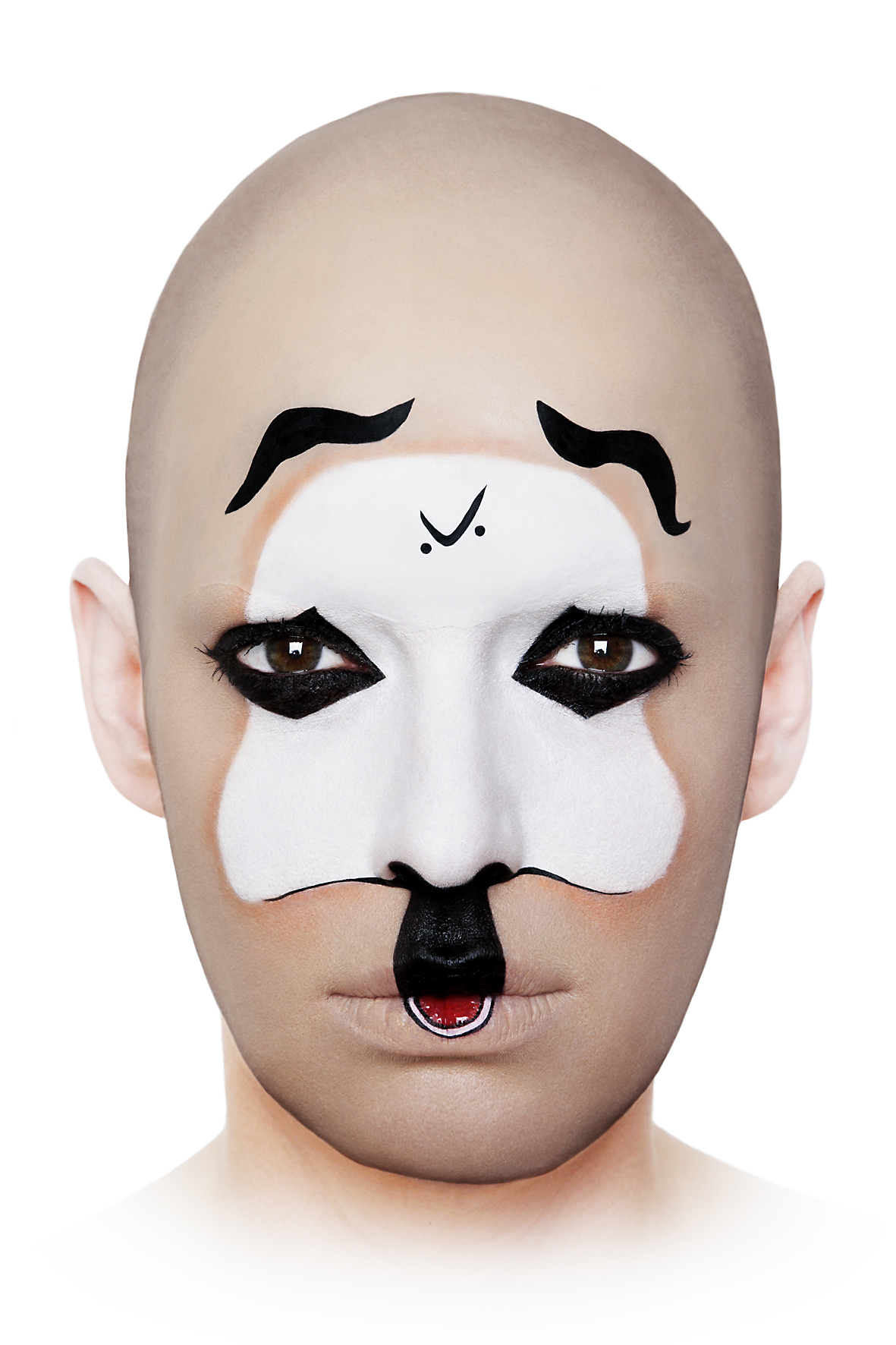 Geiles Globales Gesicht # 10  , 2008, self-portrait, lambda print, 80 cm x 120 cm.