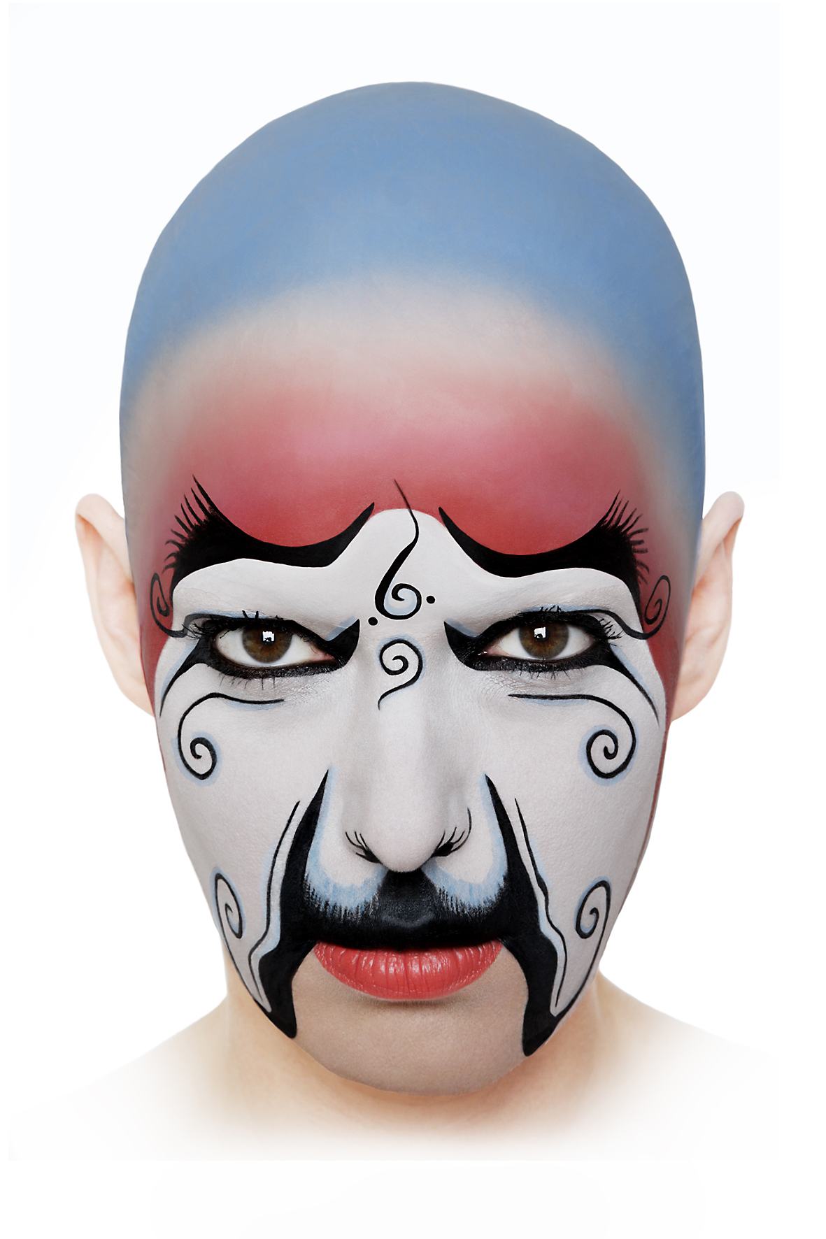 Geiles Globales Gesicht # 09  , 2008, self-portrait, lambda print, 80 cm x 120 cm.