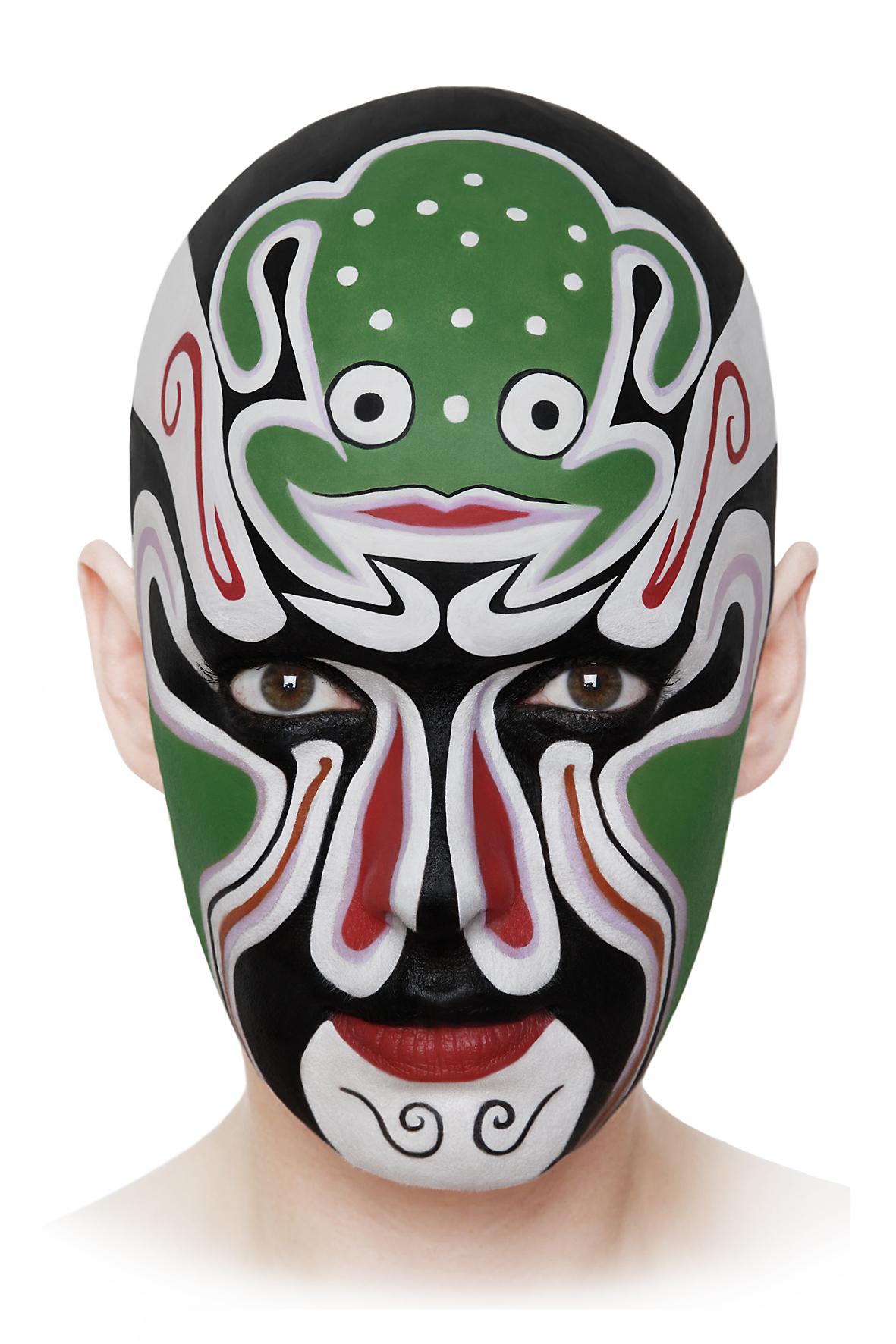 Geiles Globales Gesicht # 11,  2008, self-portrait, lambda print, 80 cm x 120 cm.