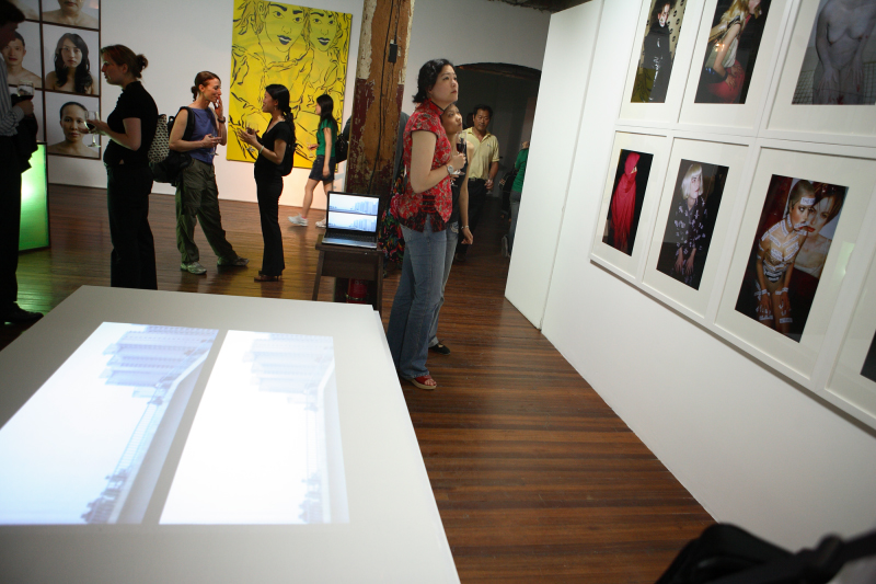Installation view, Eurasia One at the Island 6 gallery warehouse 2007.