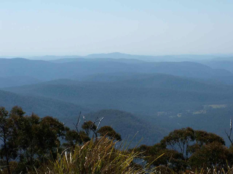 View from Vista Point near Mt Hyland