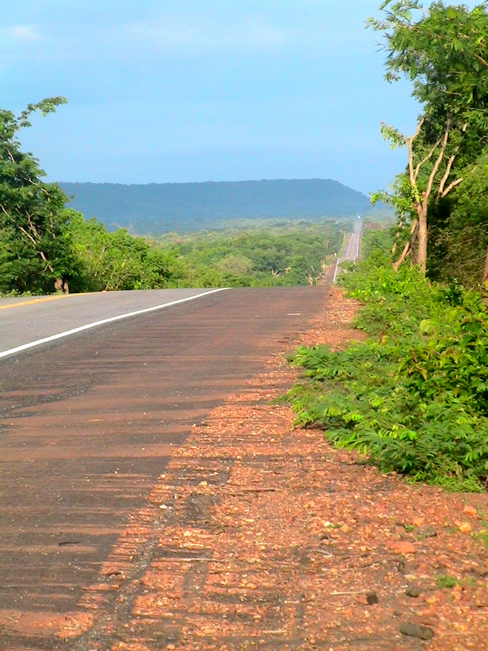 Midday on the road to Floriano, Brazil.