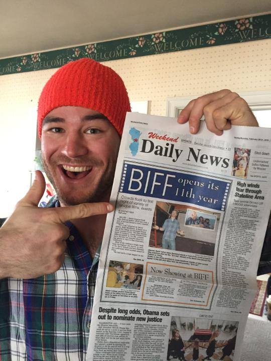 Jesse even ended up on the front page of the Beloit Daily News!