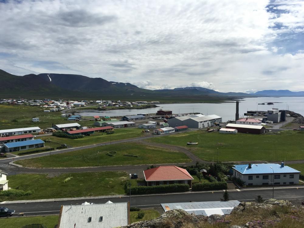 Skagastrond, Iceland, ~5.5 hours + 3 busses from Reykjavik