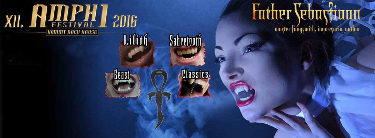 I will be fanging in the gothic market at Amphi Festival 2016.... please book your fang appointment to guarantee your place below.  You can make a deposit or full payment and the program will schedule your appointment us the form below or email  EVE@Endlessnight.com .
