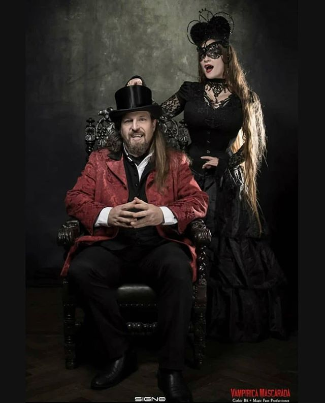With my daughter #blackveils #vampirelifestyle #vampireculture #vampire #fathersebastiaan #sabretoothclan #vampiricamascarada