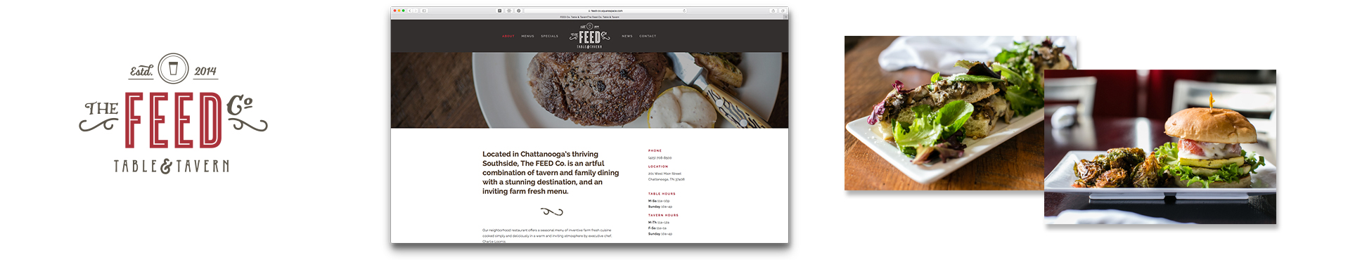 FEED Co. Table & Tavern   Photography Website Menu