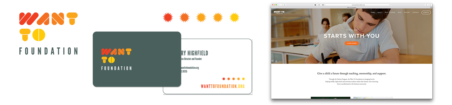 Want To Foundation   Logo Brand Identity Photography Website