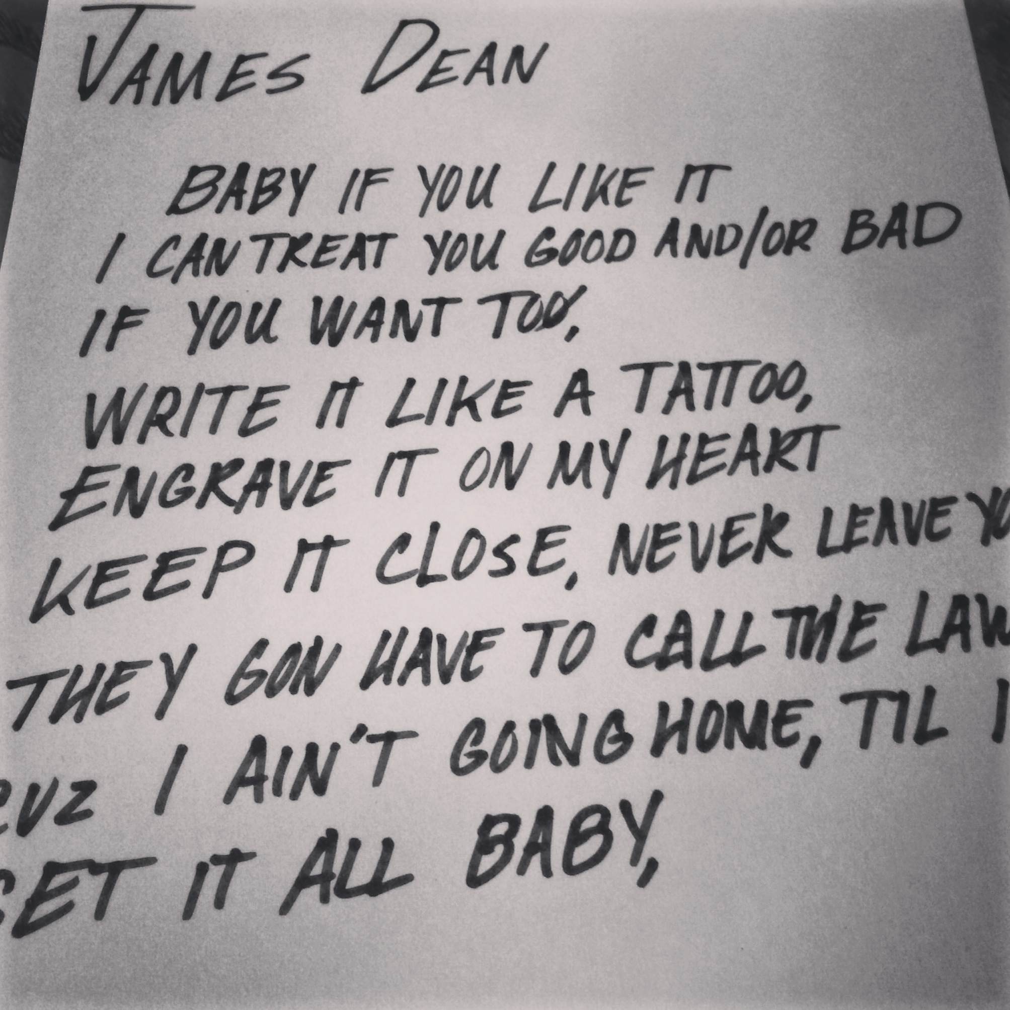 "Click here  to listen and download Justin's song ""James Dean"""