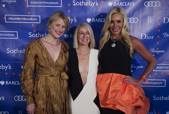 Mamie Gummer, AAM CEO Heidi Zuckerman and Amy Phelan in 2014.