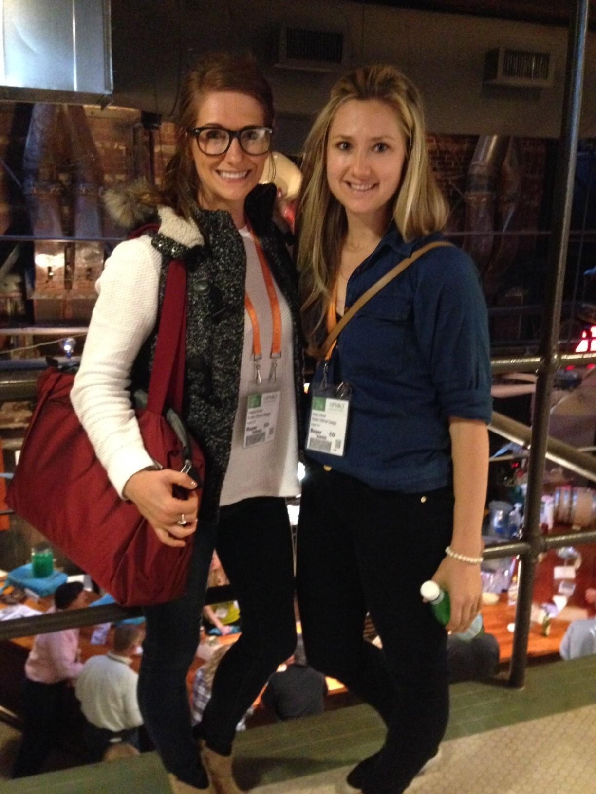 Stefanie and Kristin at High Point.