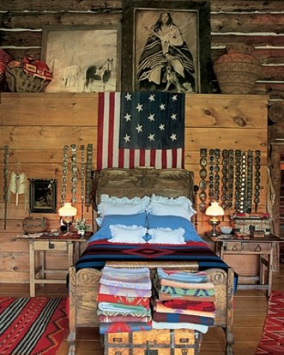 Ralph Lauren's Telluride Ranch bedroom