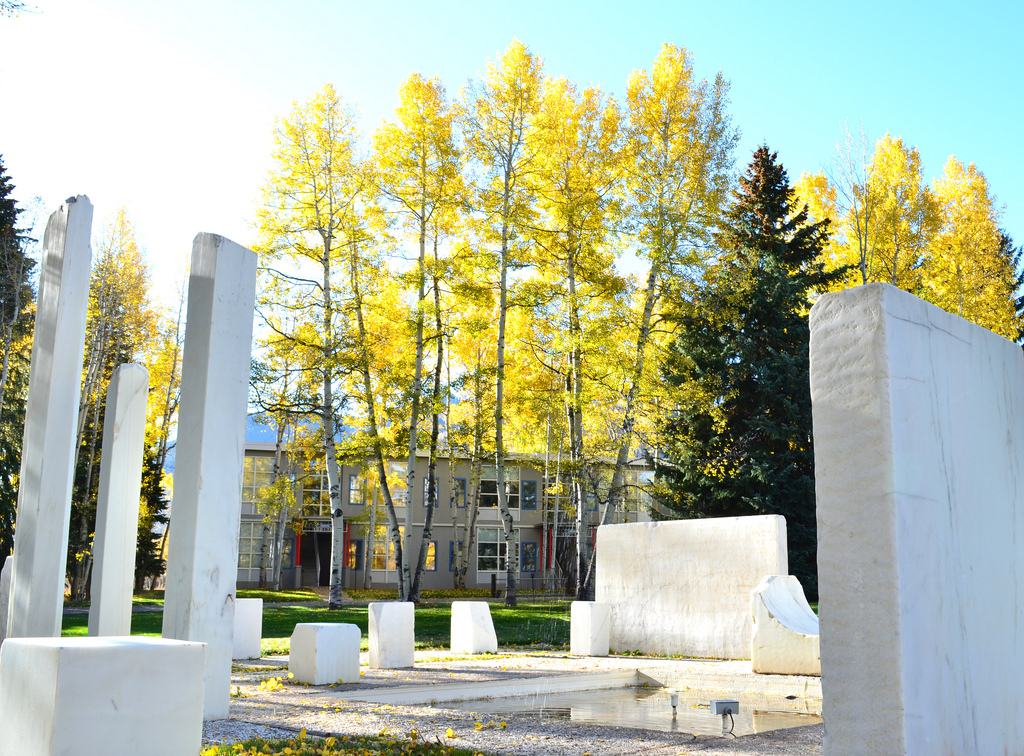 The Marble Garden (Herbert Bayer 1955) at  The Aspen Meadows , home of the  Aspen Institute