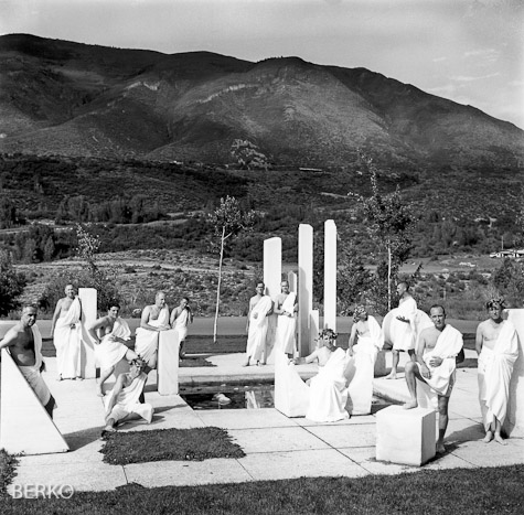 "Aspen Institute attendees performing ""Antigone'"" in 1955"