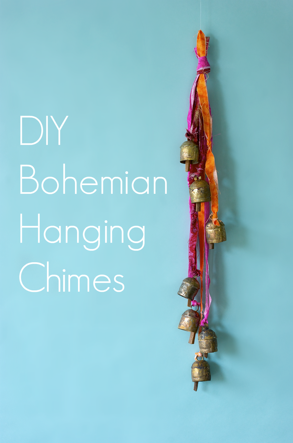 DIY Bohemian Hanging Chimes via A Charming Project