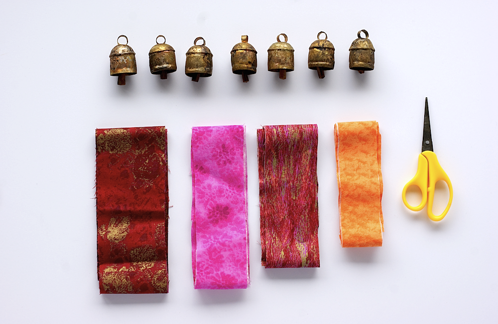 DIY Bohemian Hanging Chimes Supplies via A Charming Project