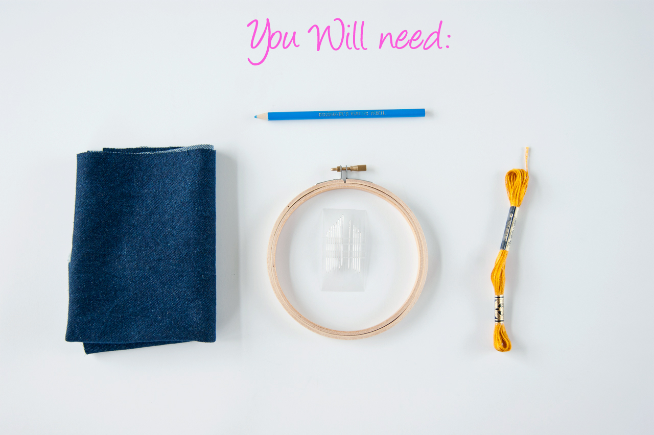 DIY needleword - Embroidery Hoop Wall Sign Supplies