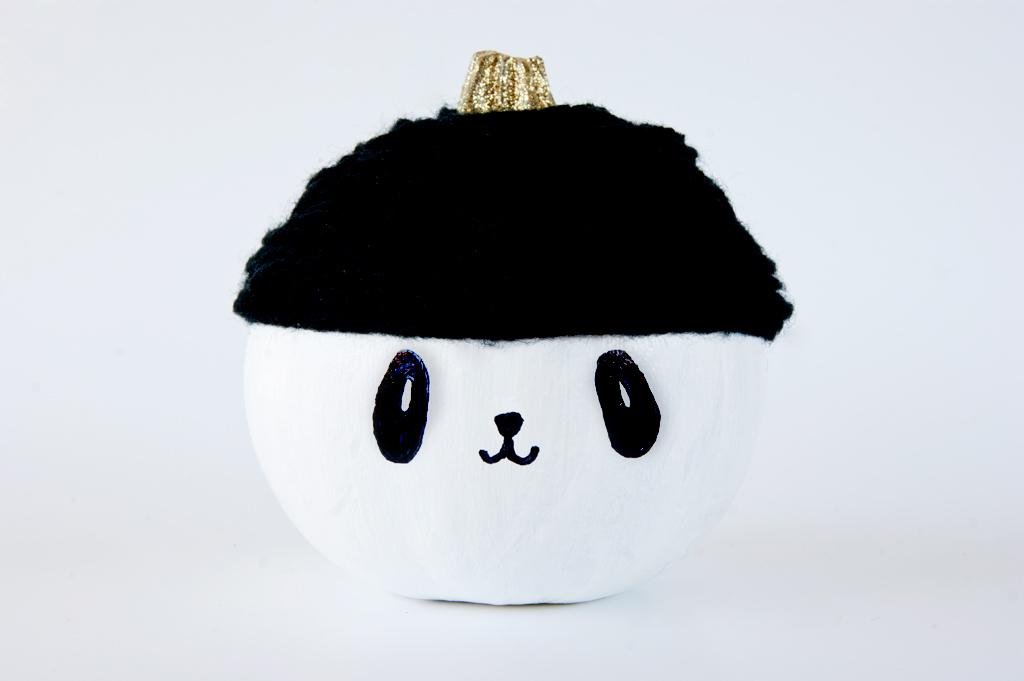 DIY Pumpkin Panda