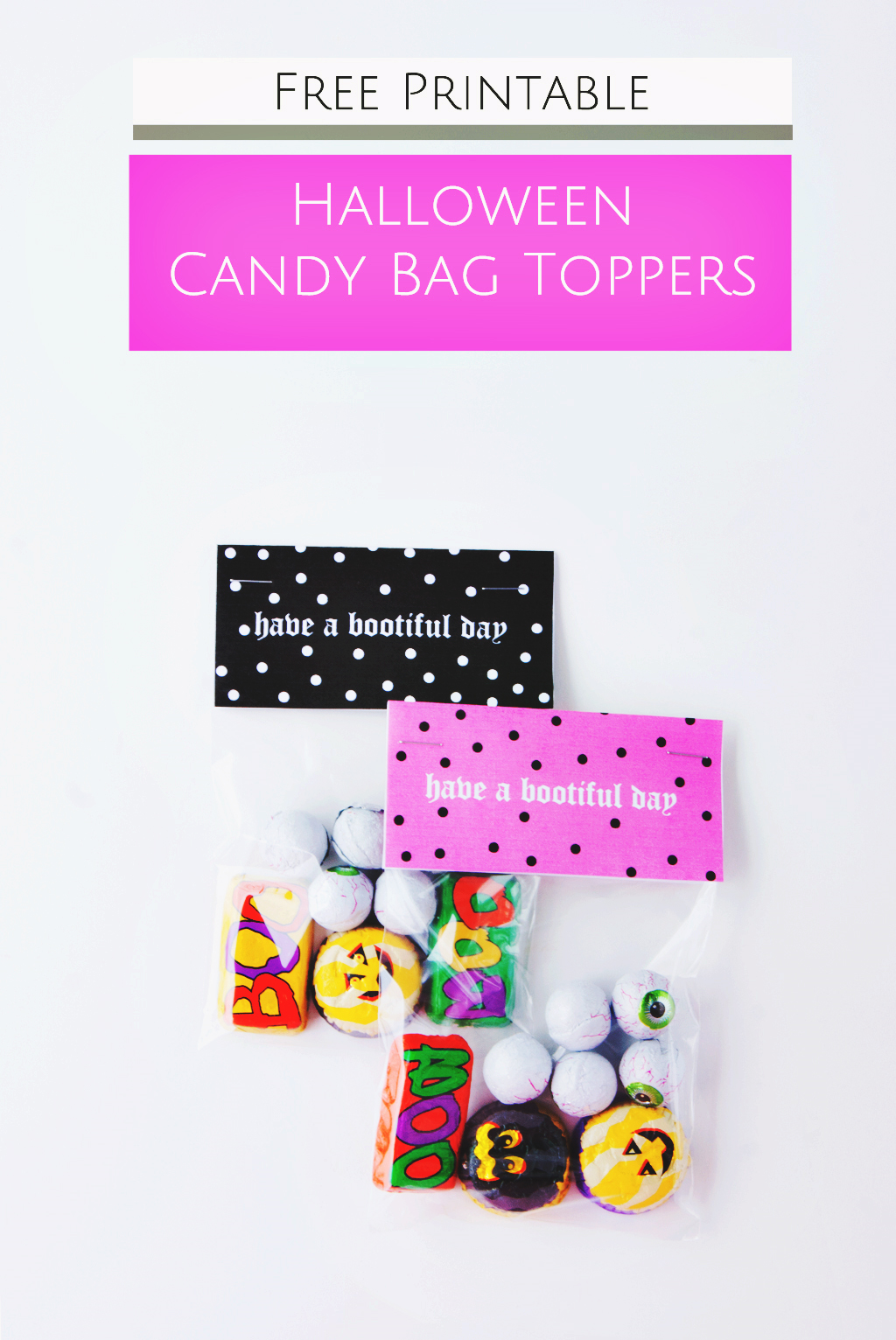 Free Printable - DIY Halloween Candy Bag Toppers