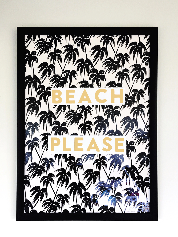 make your own diy summertime wall art - beach please