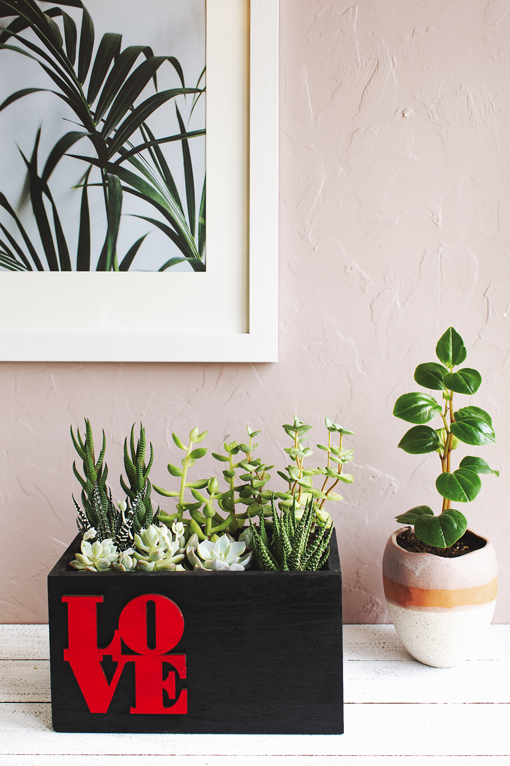 Love Planter - DIY Mini Succulent Garden via A Charming Project