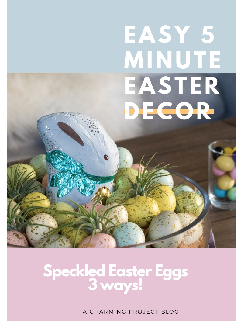 Easy 5 Minute Easter Decor 3 ways!