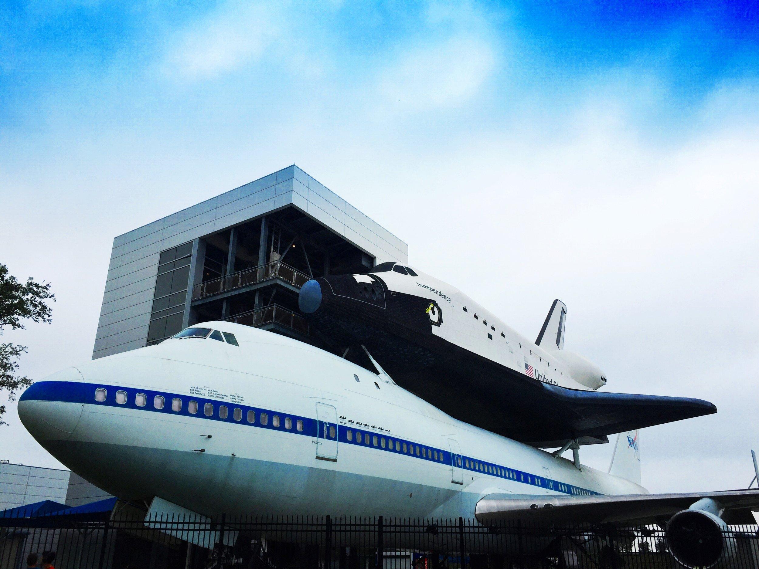 nasa houston space center exterior