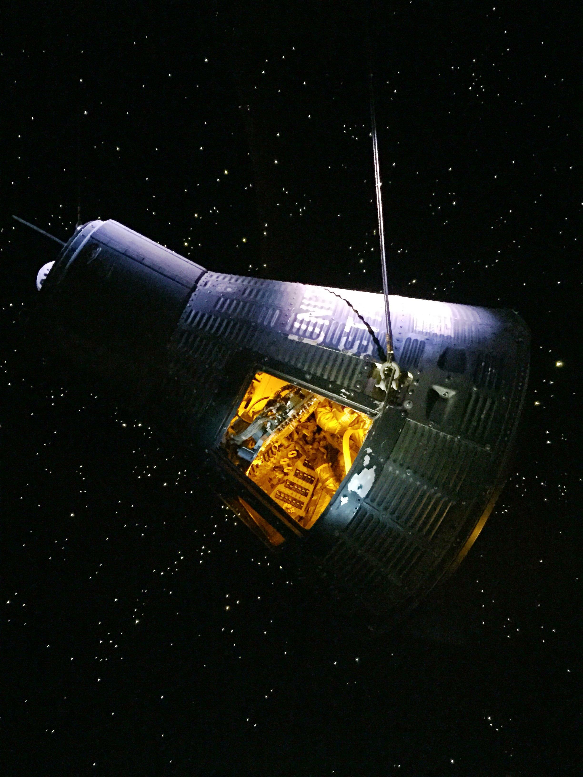 nasa houston space center apollo capsule