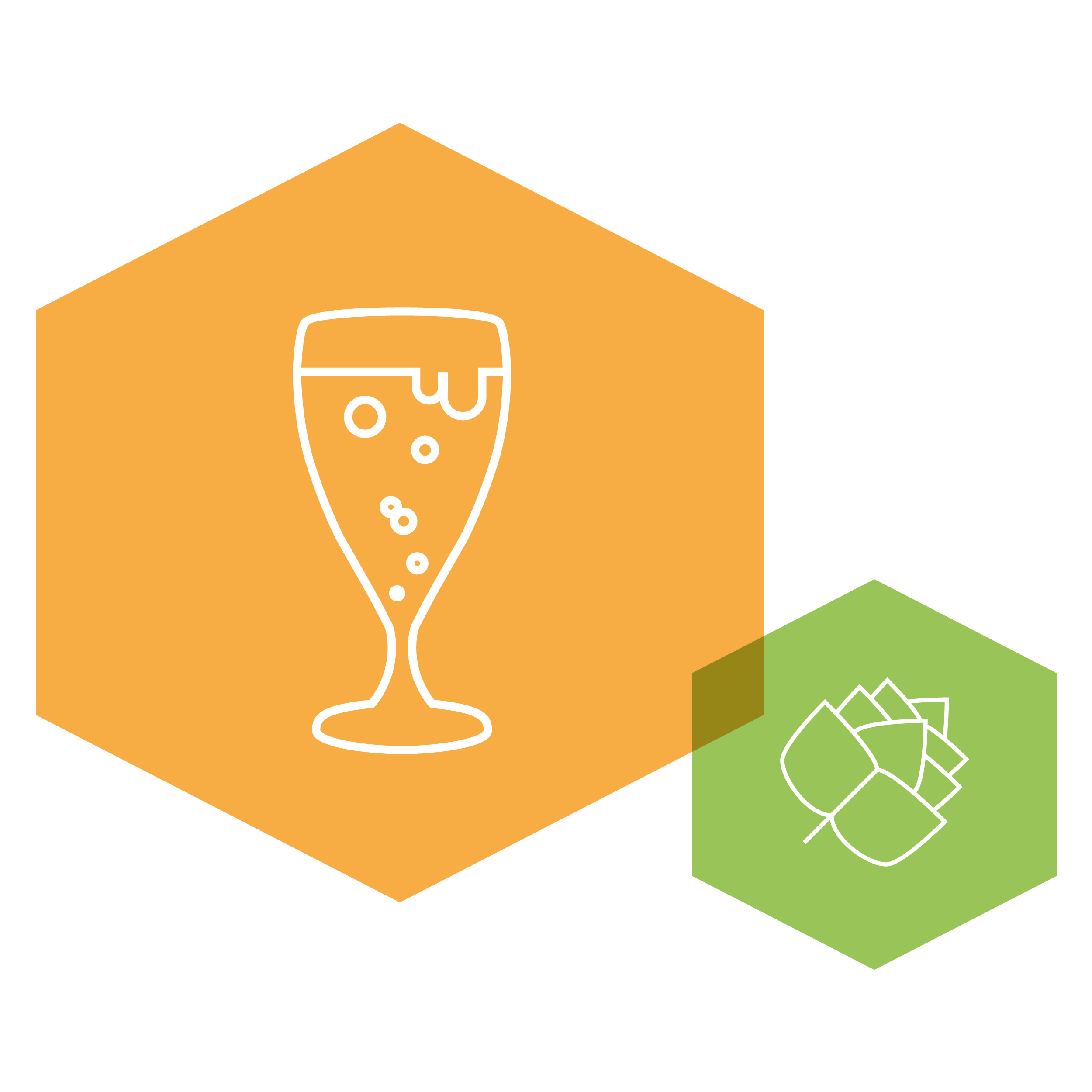 health and beer brochure icon