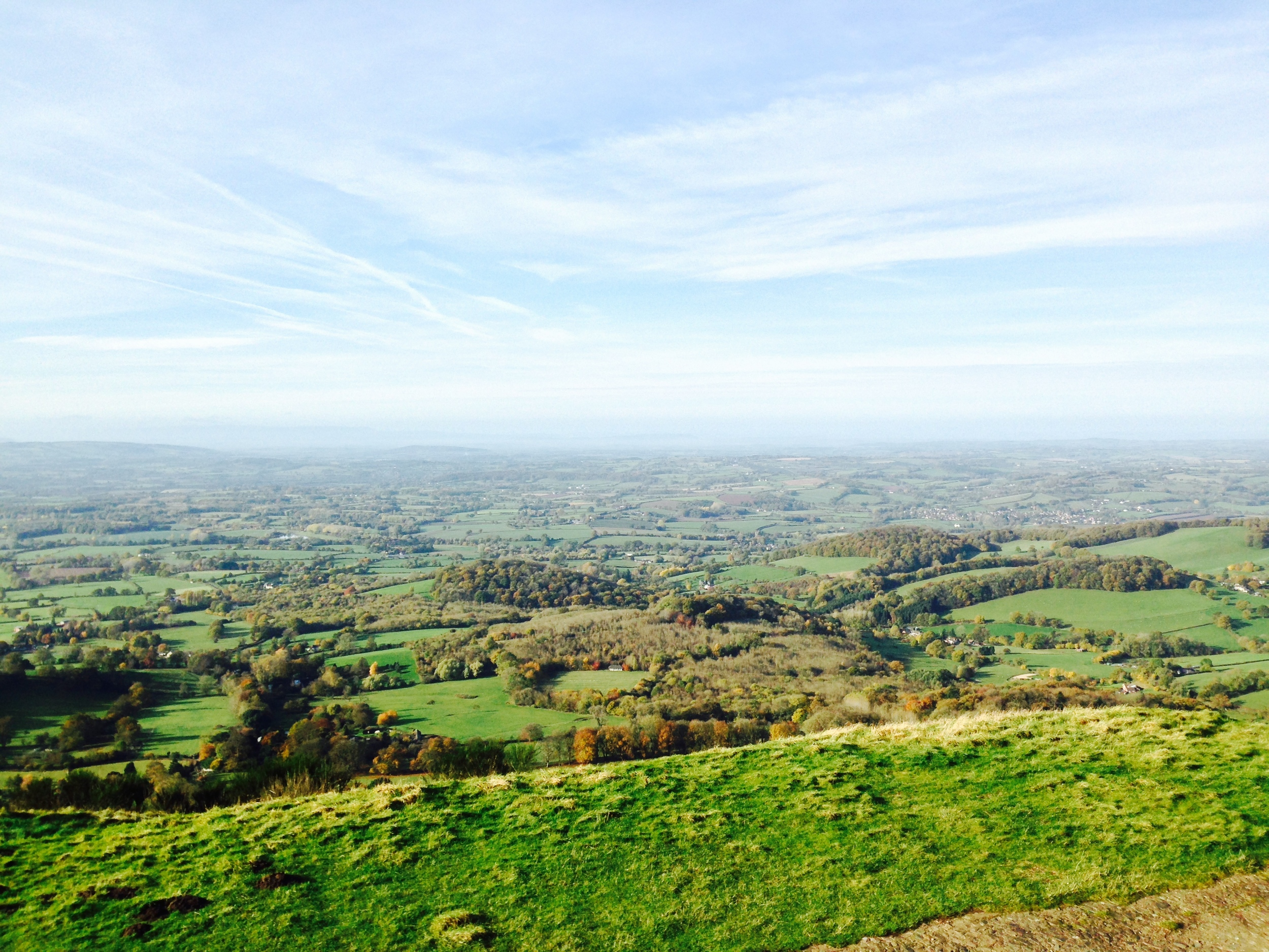 The top of the Malvern Hills, 13/11/2013