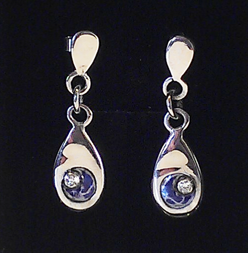 Teardrop Recycled Earrings