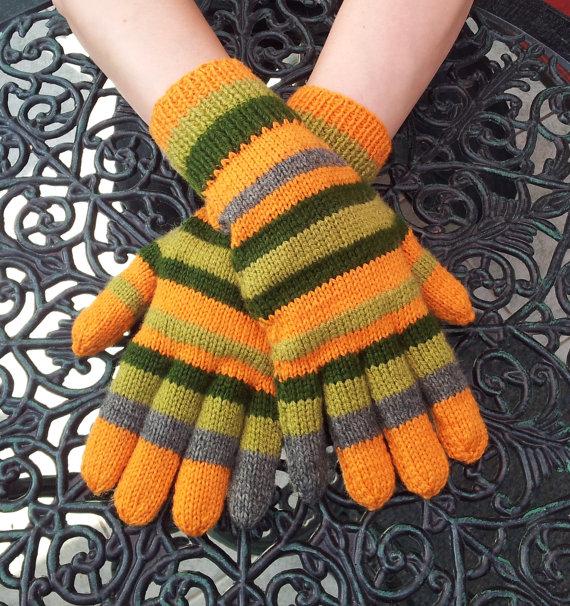 GothicChameleon -Hand Knitted Coraline Gloves