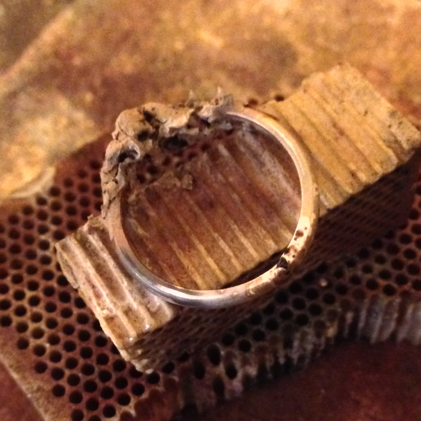 The ring after soldering!