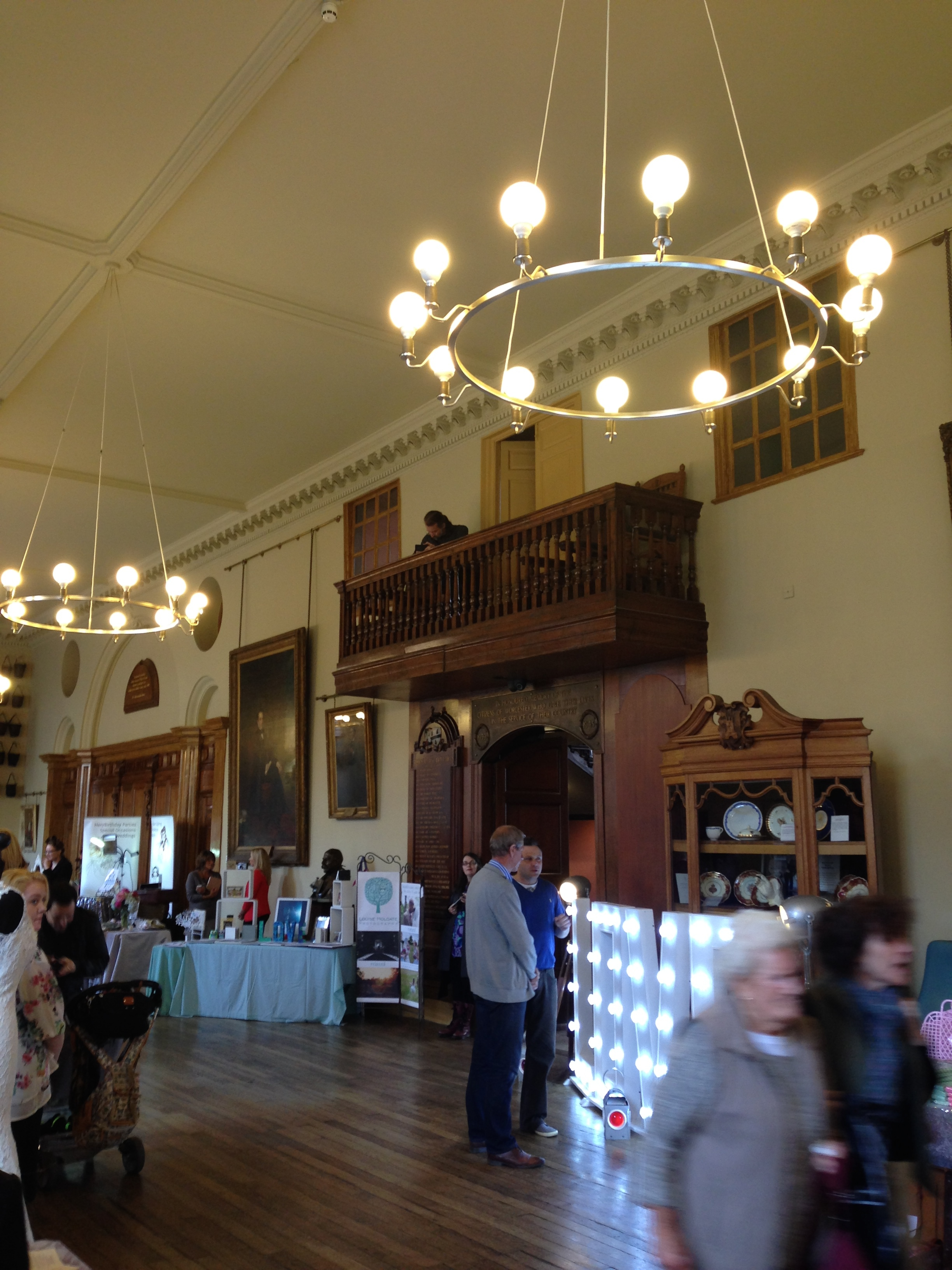 Inside Worcester Guildhall