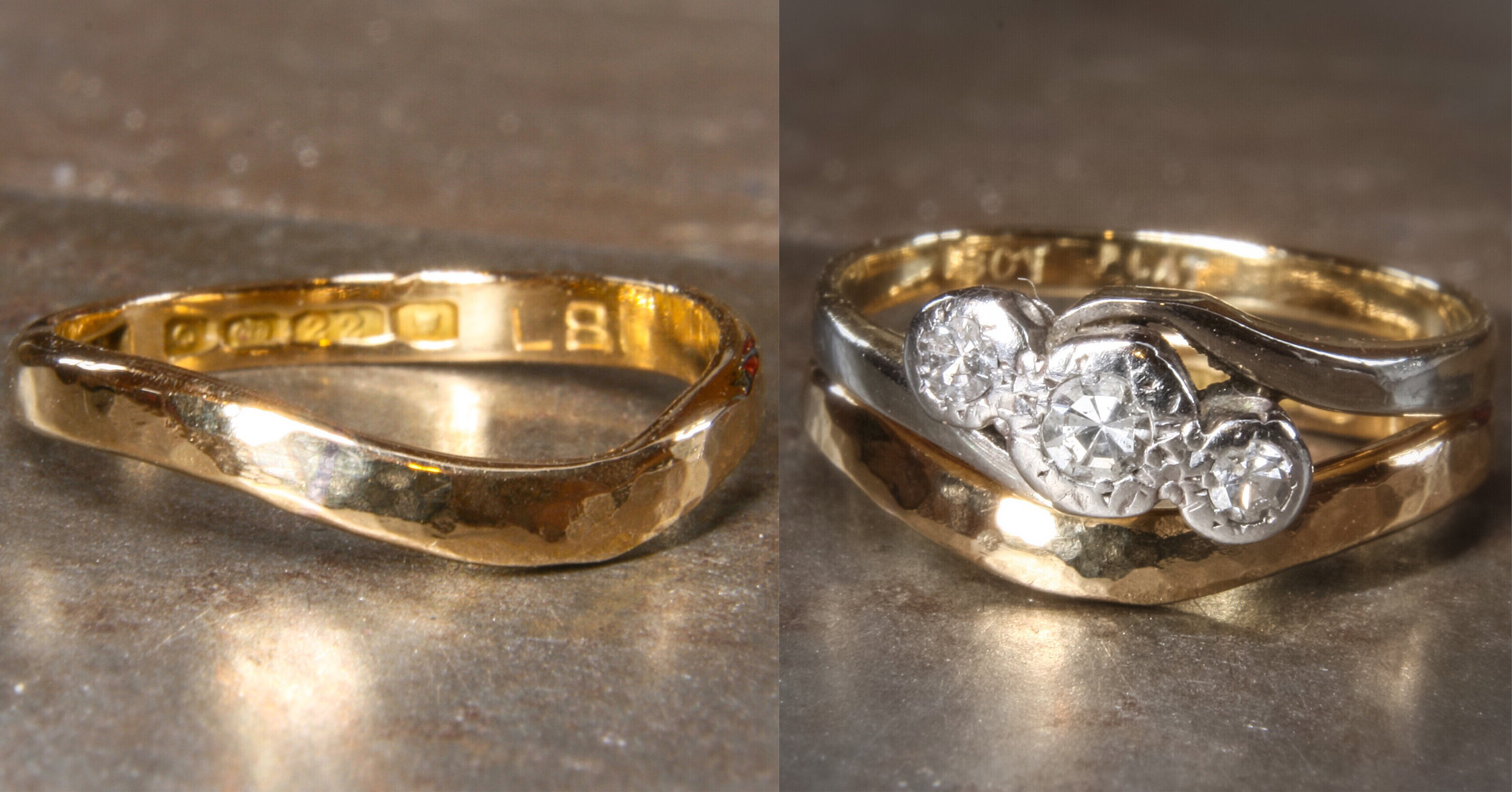 Remodelled 22ct gold wedding ring