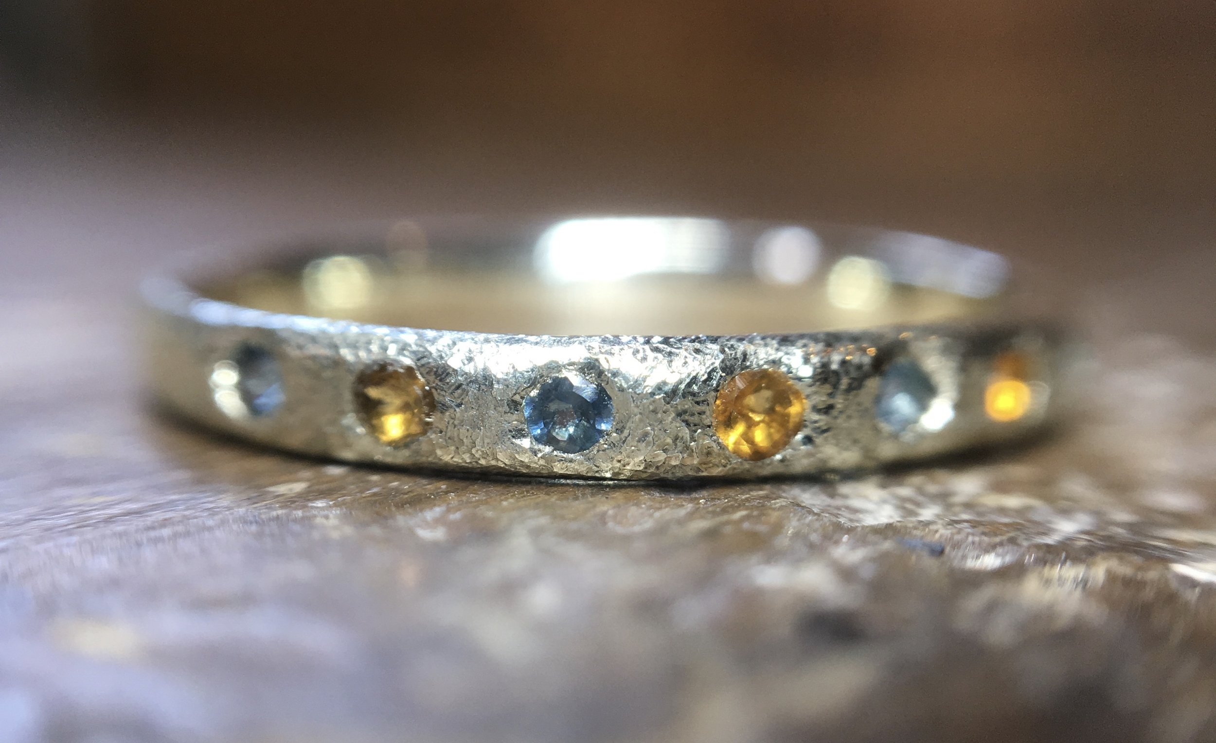 9ct white gold remodelled ring