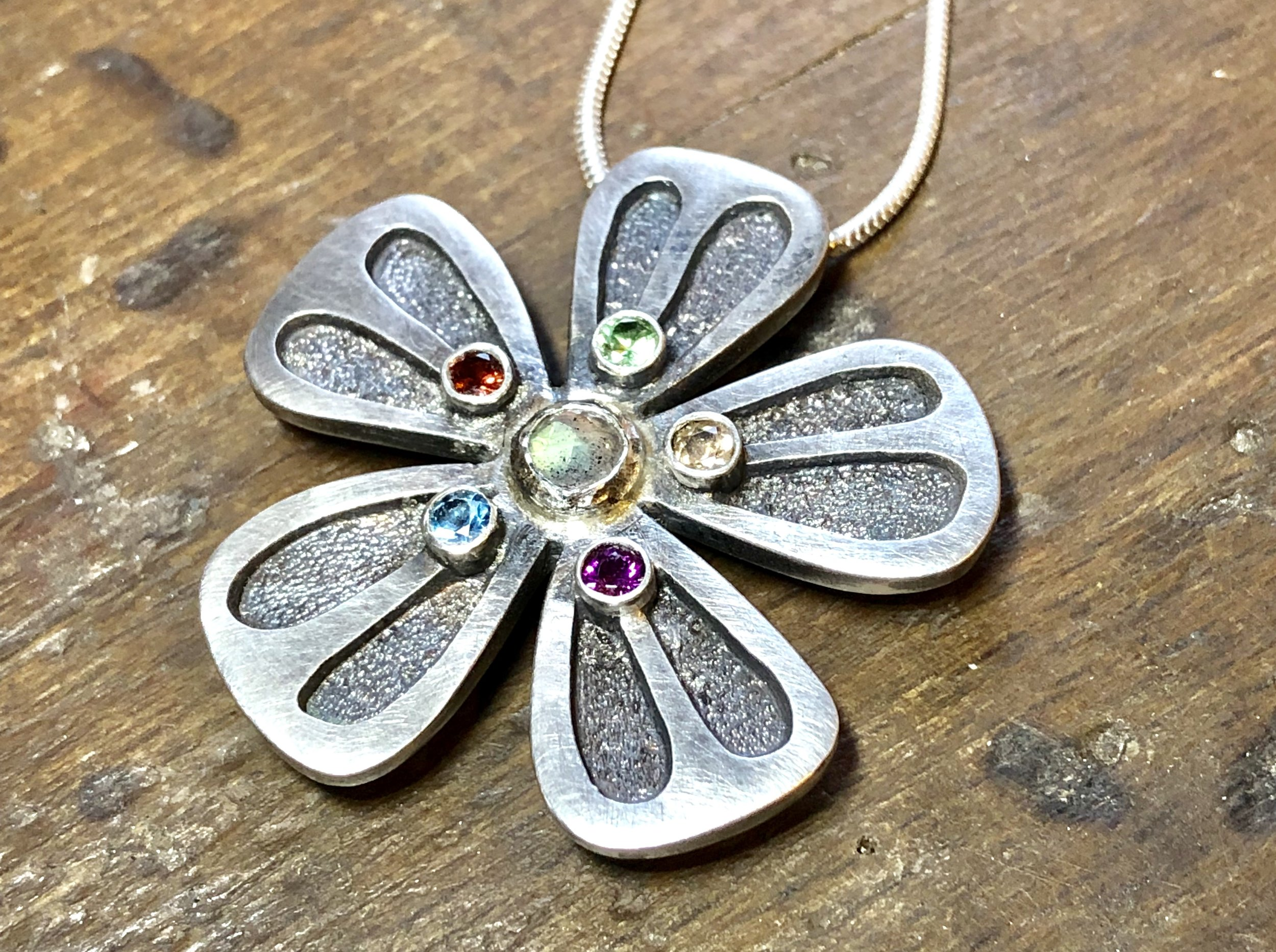 Recycled silver brooch/pendant
