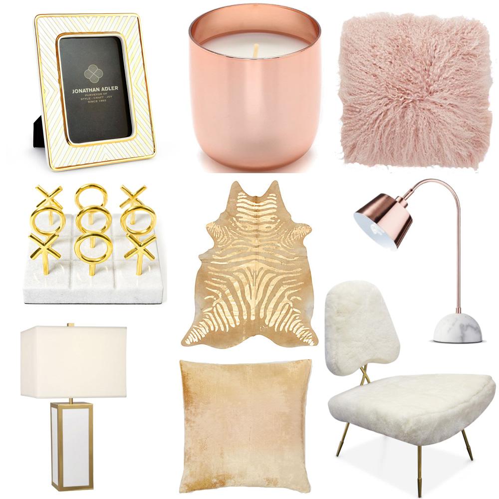 gold interior accessories