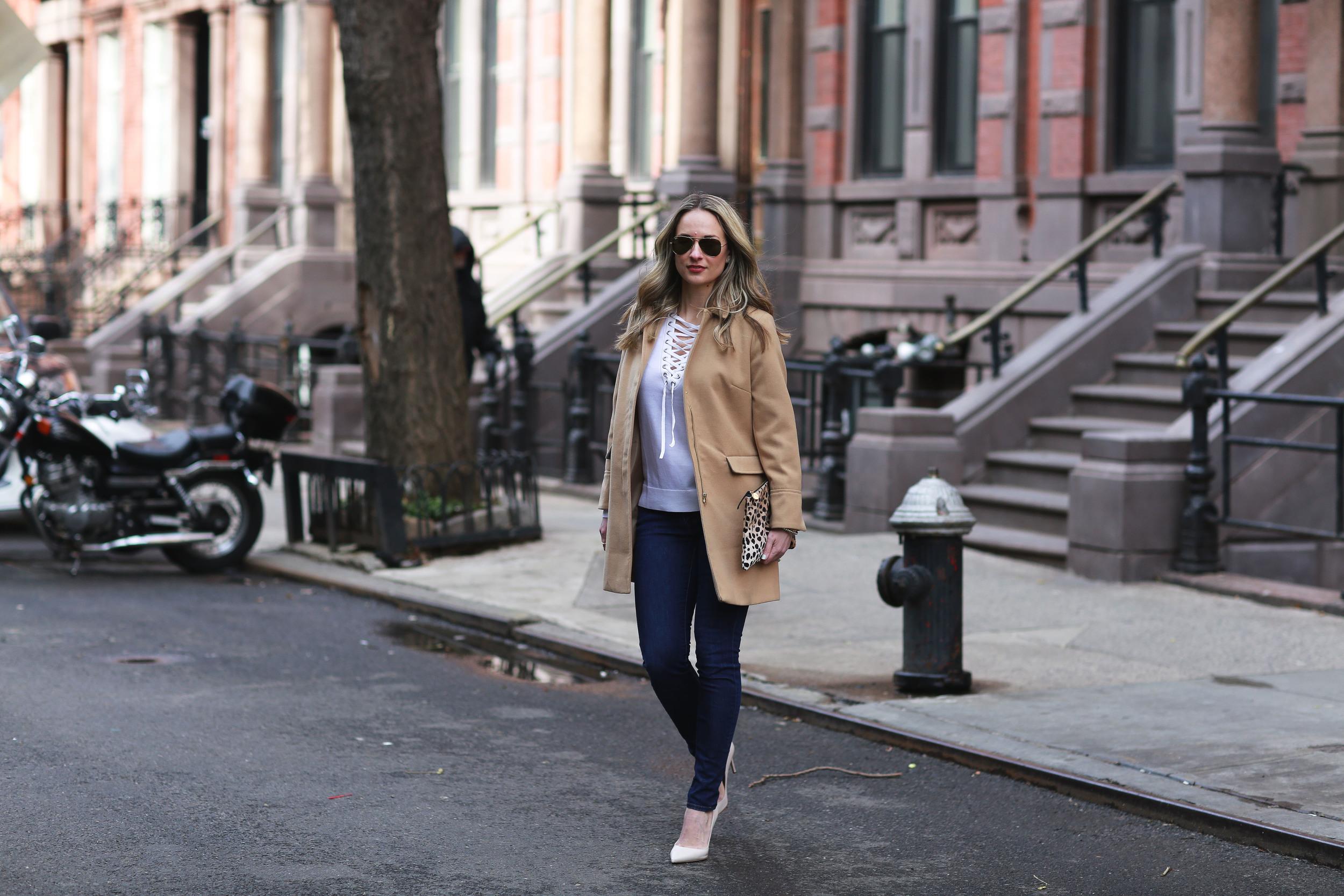 the kooples sweater & camel coat