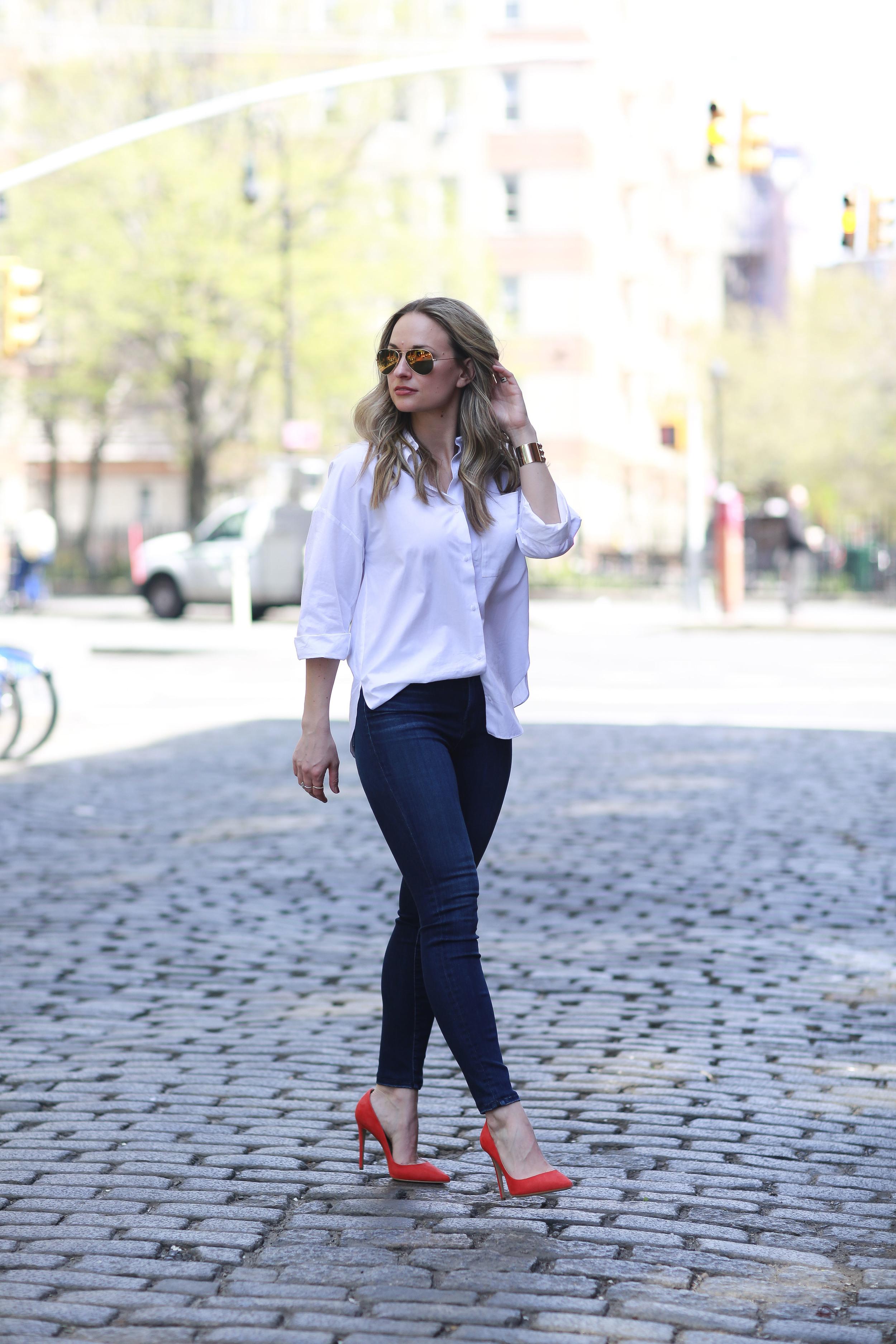 Zara Oversized white button up