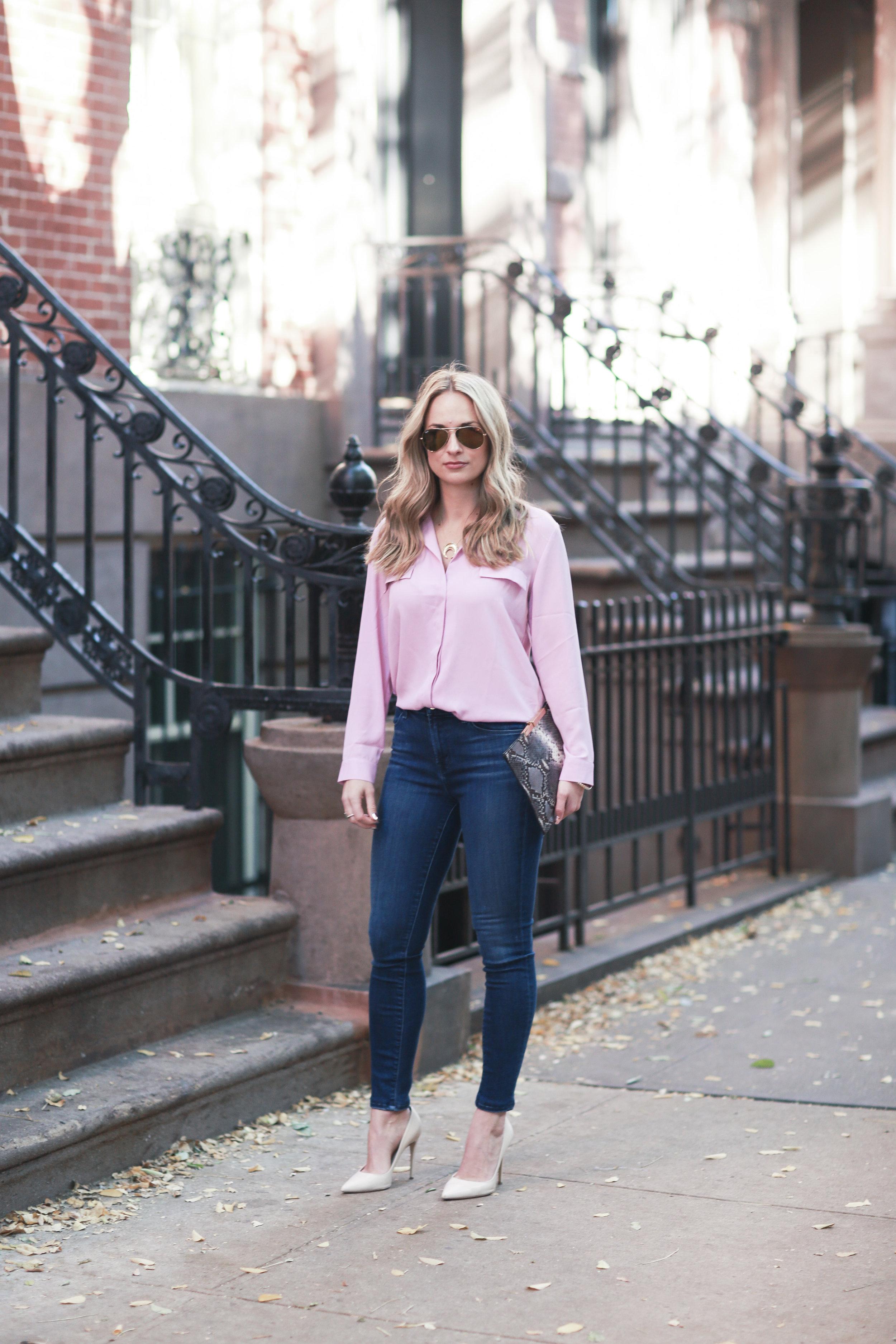 pink asos blouse