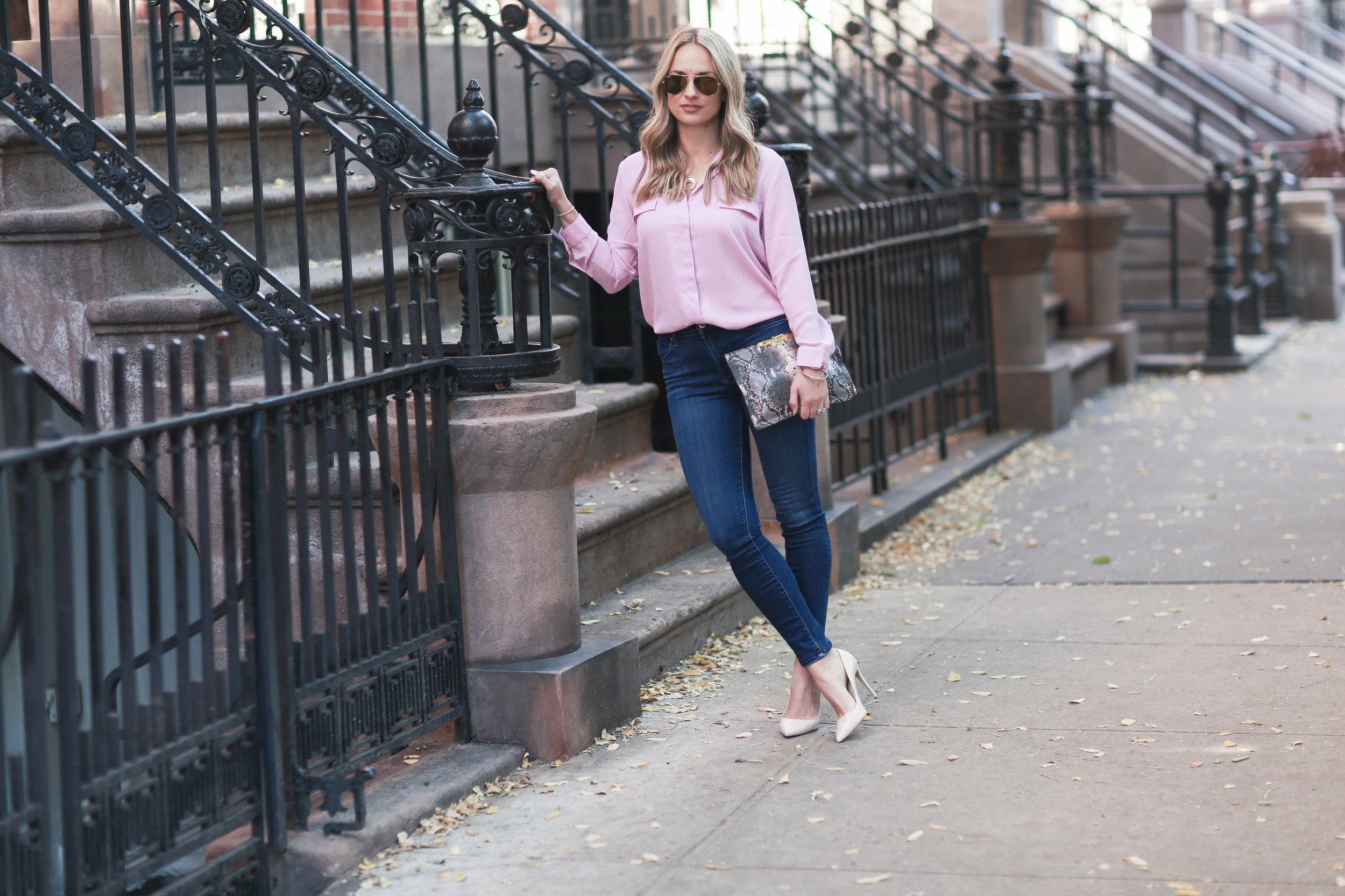 pink pajama blouse