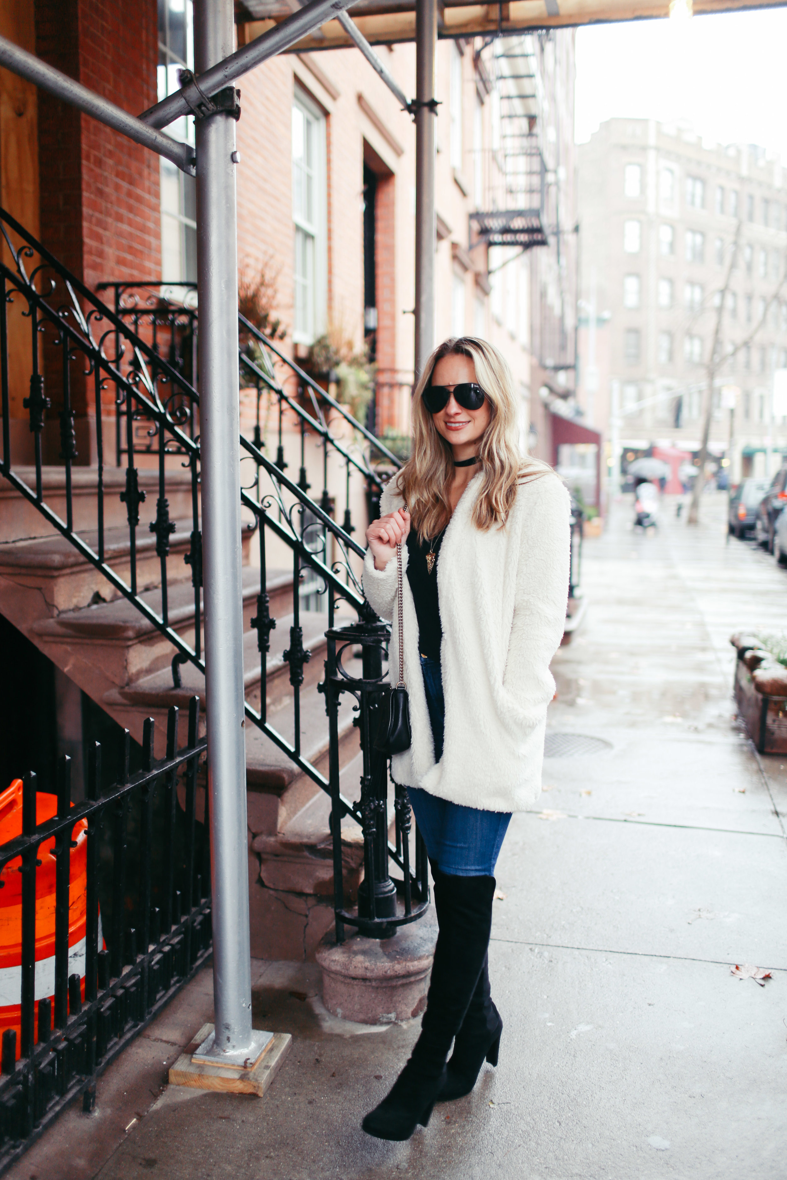 how to style a fuzzy jacket
