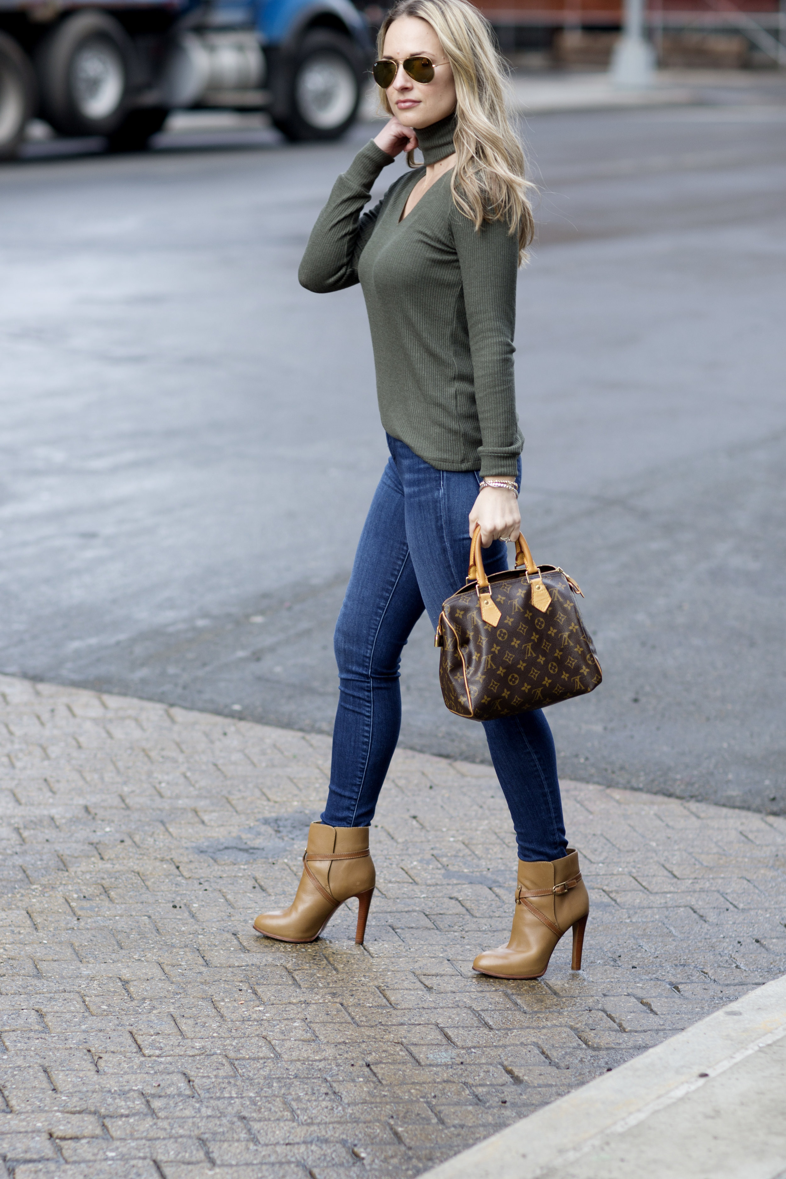 lna clothing olive green sweater