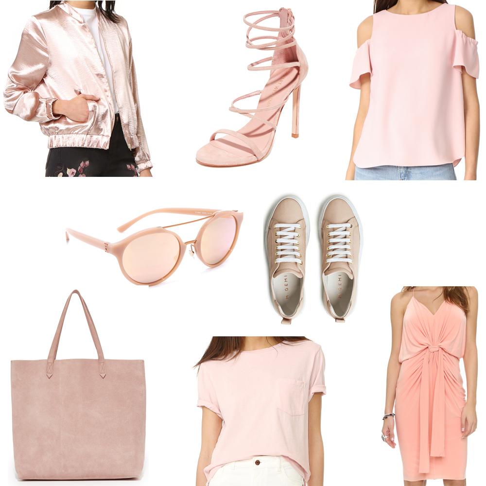 blush tone clothing