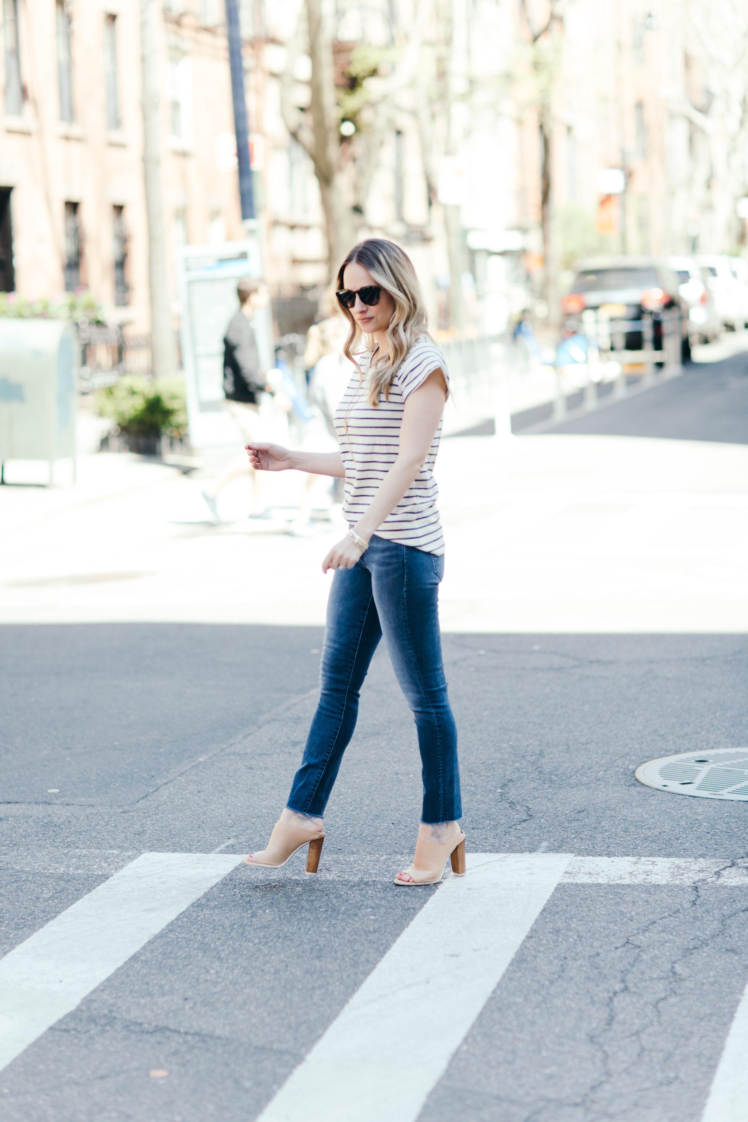 LNA clothing Stripe Desert tee
