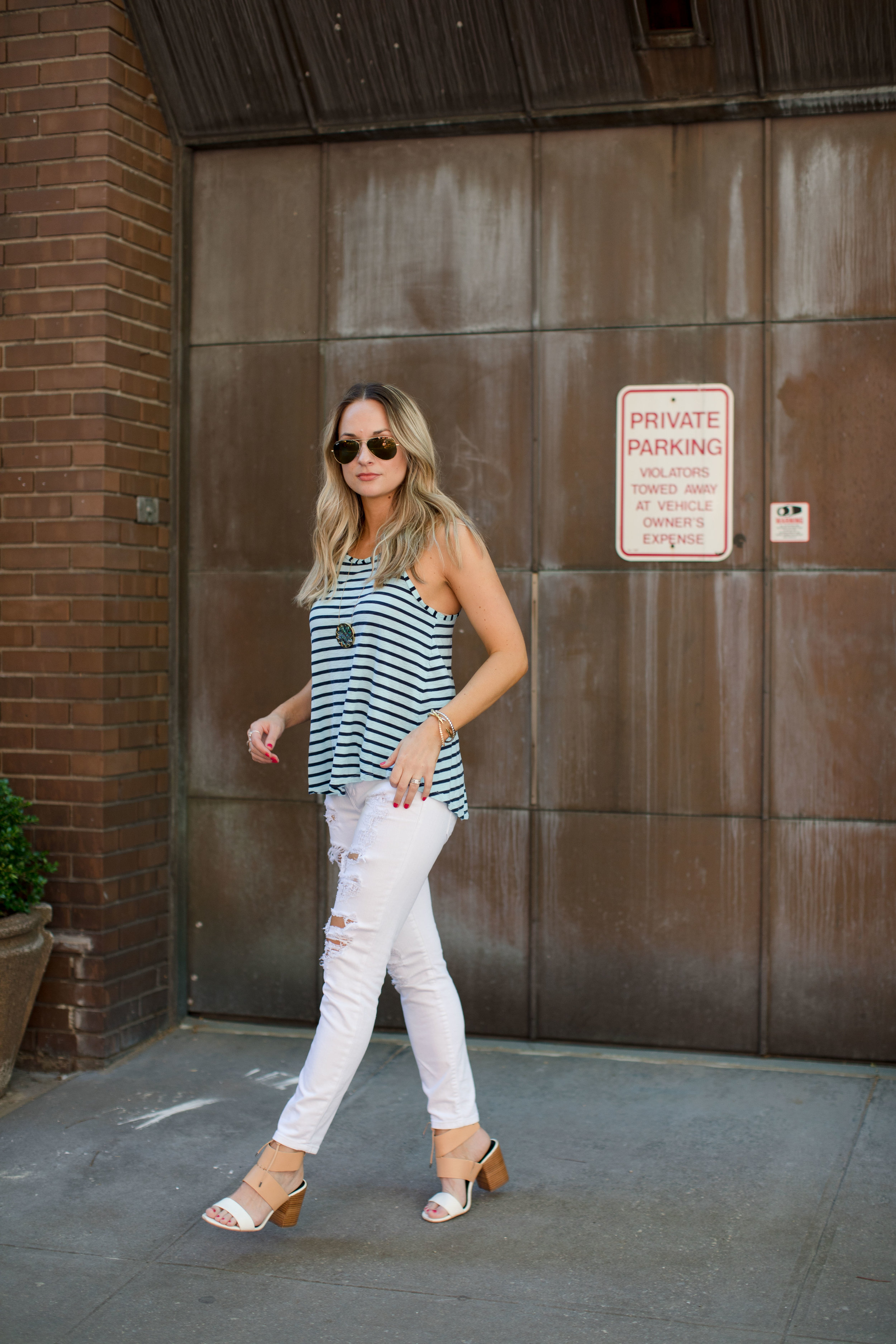 striped summer tank top